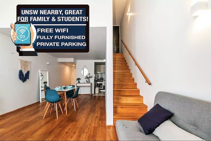 Comfy Contained Loft Apt. 6min BEACH, 20min CITY