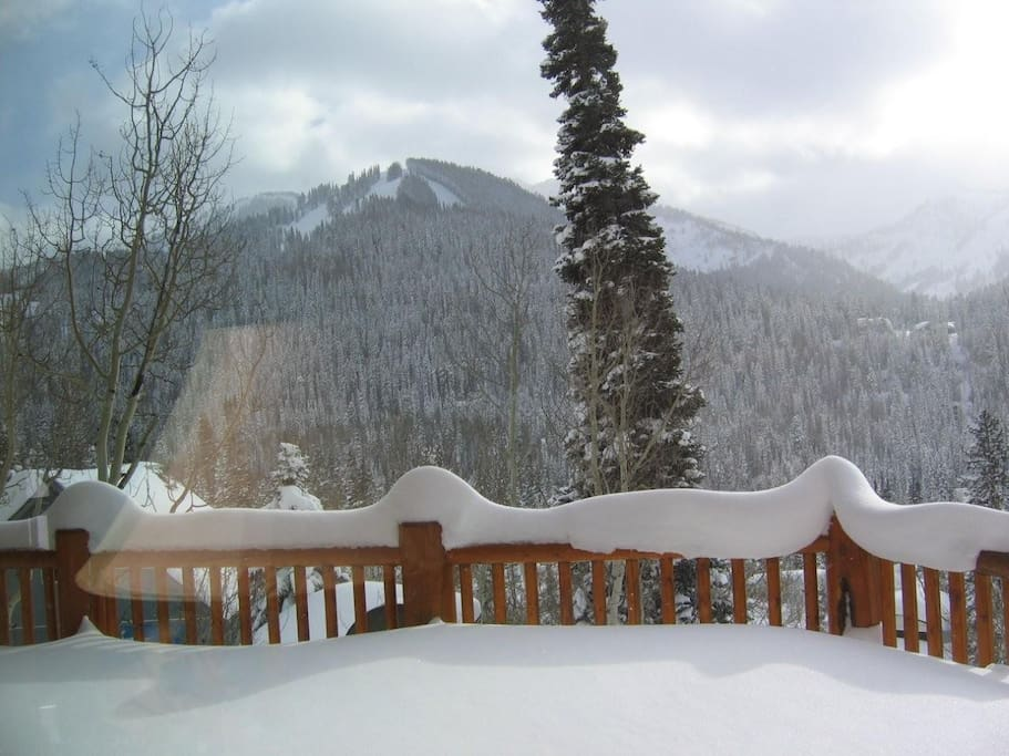 South facing deck looking out over Solitude ski resort