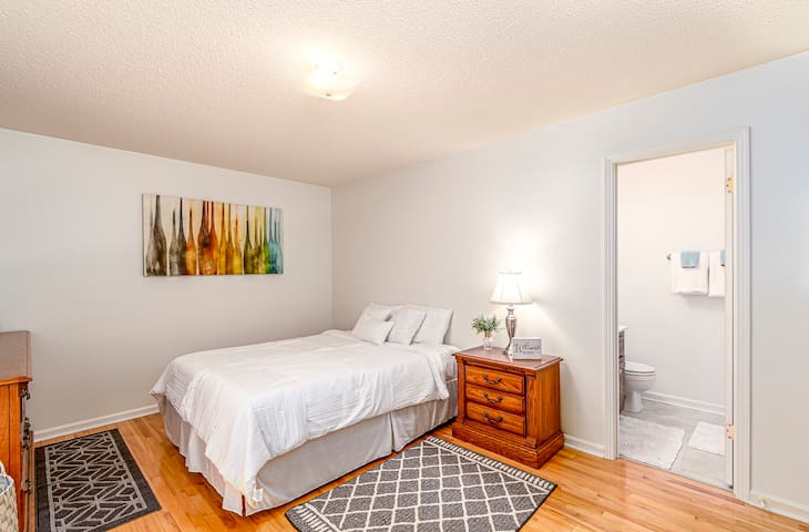 Beautiful, spacious and relaxing Master Bedroom with private full bathroom