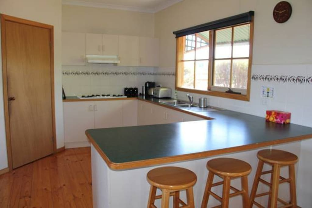 Large kitchen area and pantry