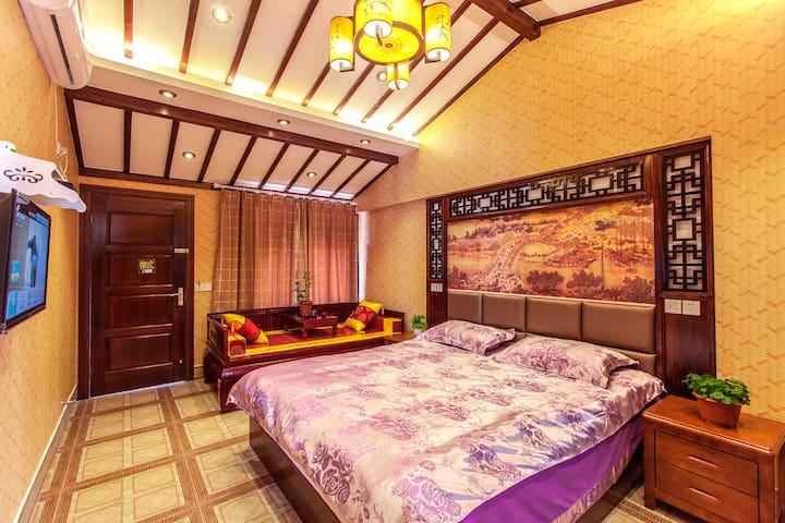 古镇内精品大床房家庭房二选一,家庭房加100 - Jiaxing Shi - Wohnung