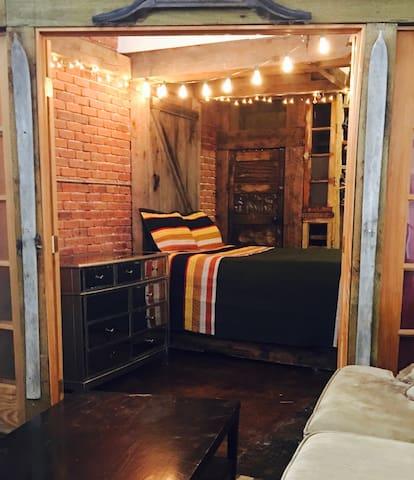 First floor queen size bed.