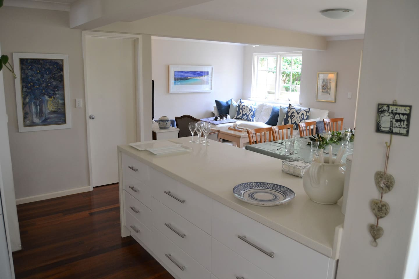 Casual relaxing Kitchen, Dining, Family area