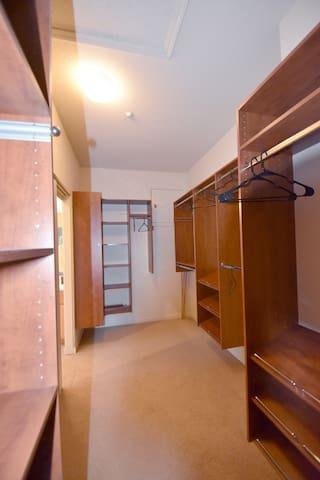 Huge master bedroom closet