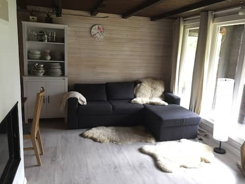 Cozy loghouse close to the best beach in the area