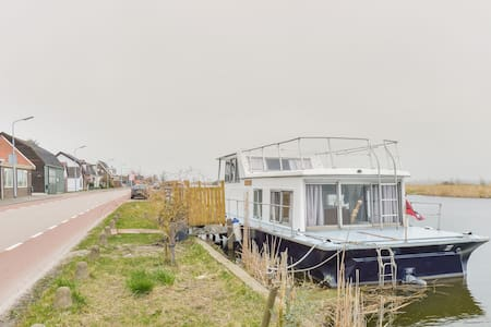 Modern Boathouse close to Amsterdam and Haarlem - Lijnden - Boot
