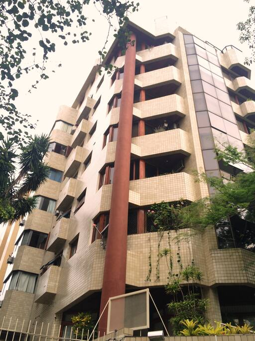 Fachada do elegante edifício