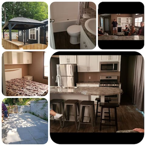 Brand NEW 2018 cottage trailer in beautiful park