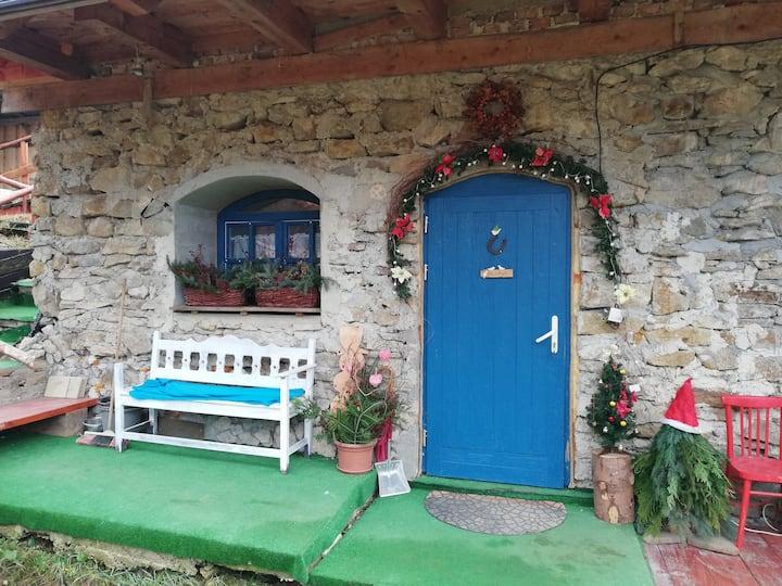 Chata Sýpka v malebnej dedinke naLiptove