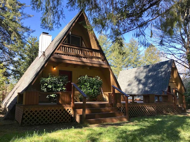 A-frame cabin by lake Mayfield