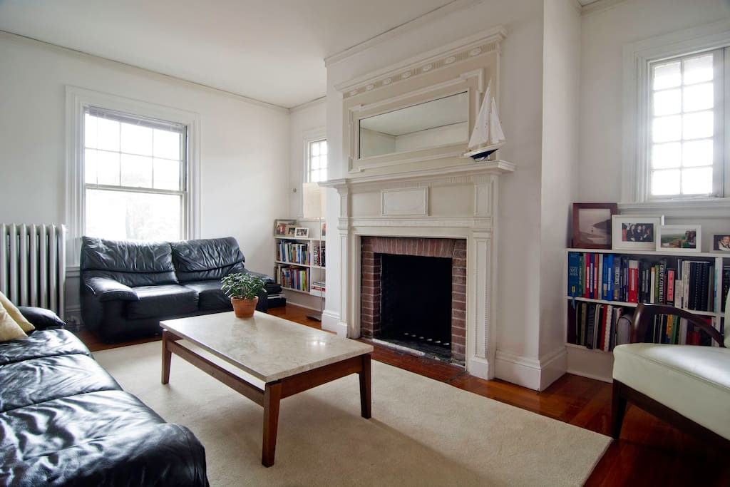 Large living room gets plenty of natural light throughout the day.