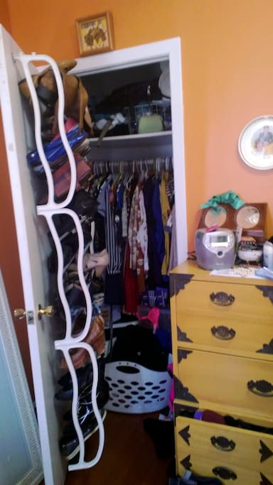 CLOSET! I will obviously remmove my stuff when you come to stay!