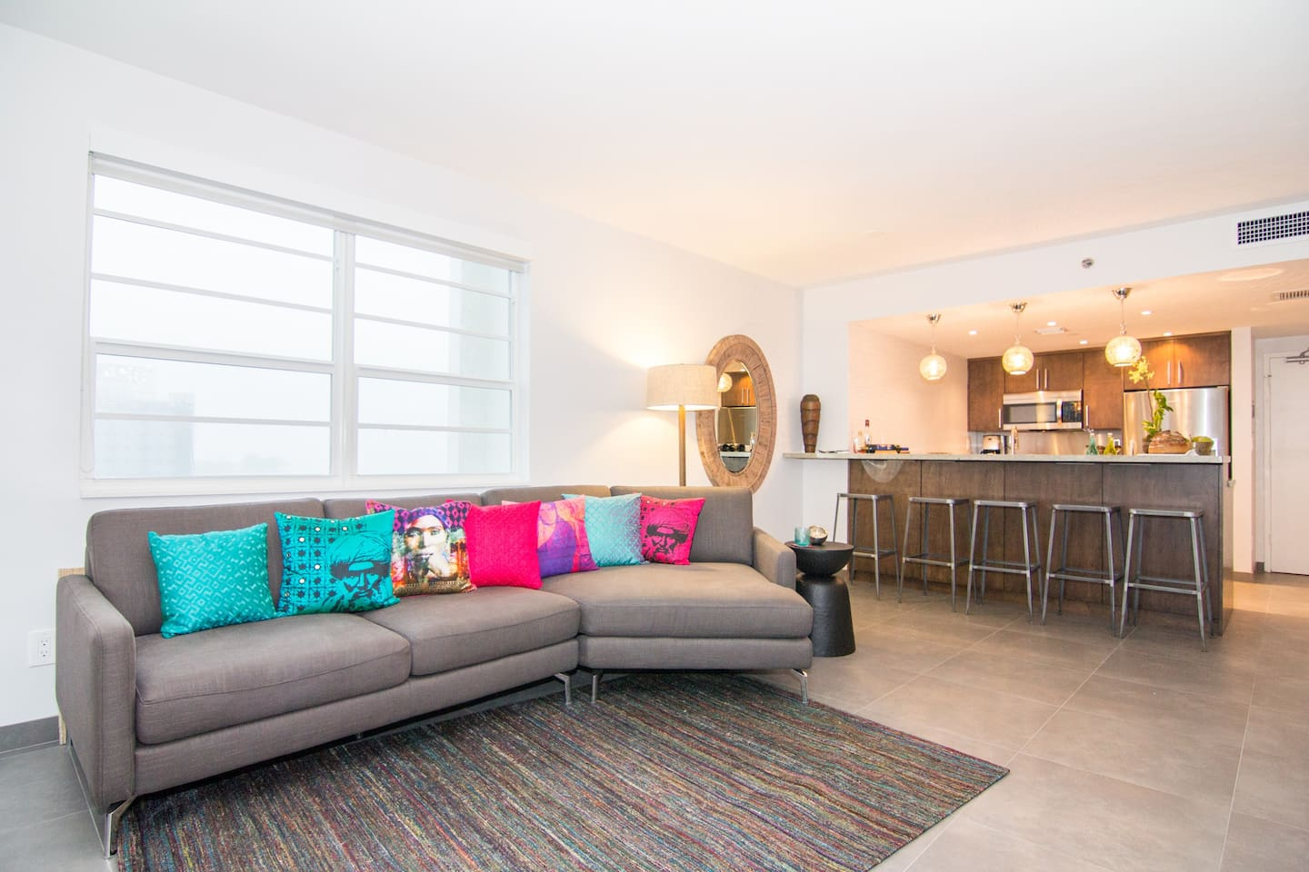 A tastefully renovated 2 Bedroom, 2 Bath at The decoplage on South Beach, Miami Beach!