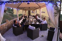 evening on the terrace