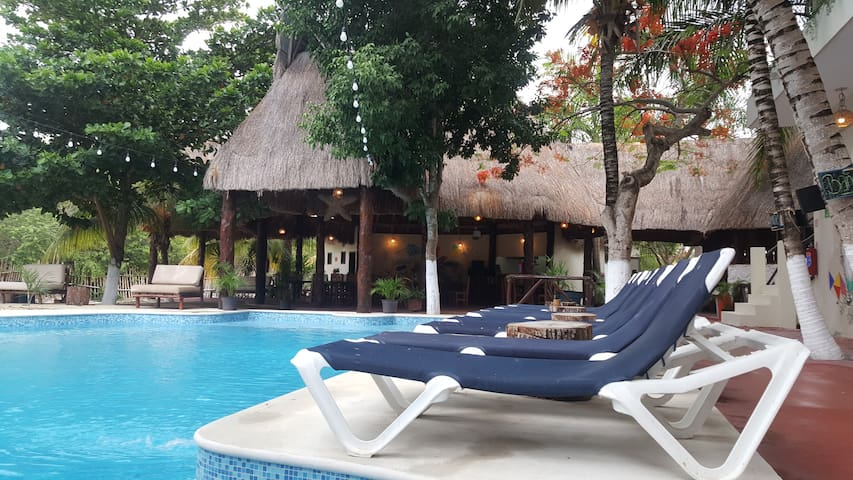 Down Bunk Bed & Breakfast - Jungle House Tulum