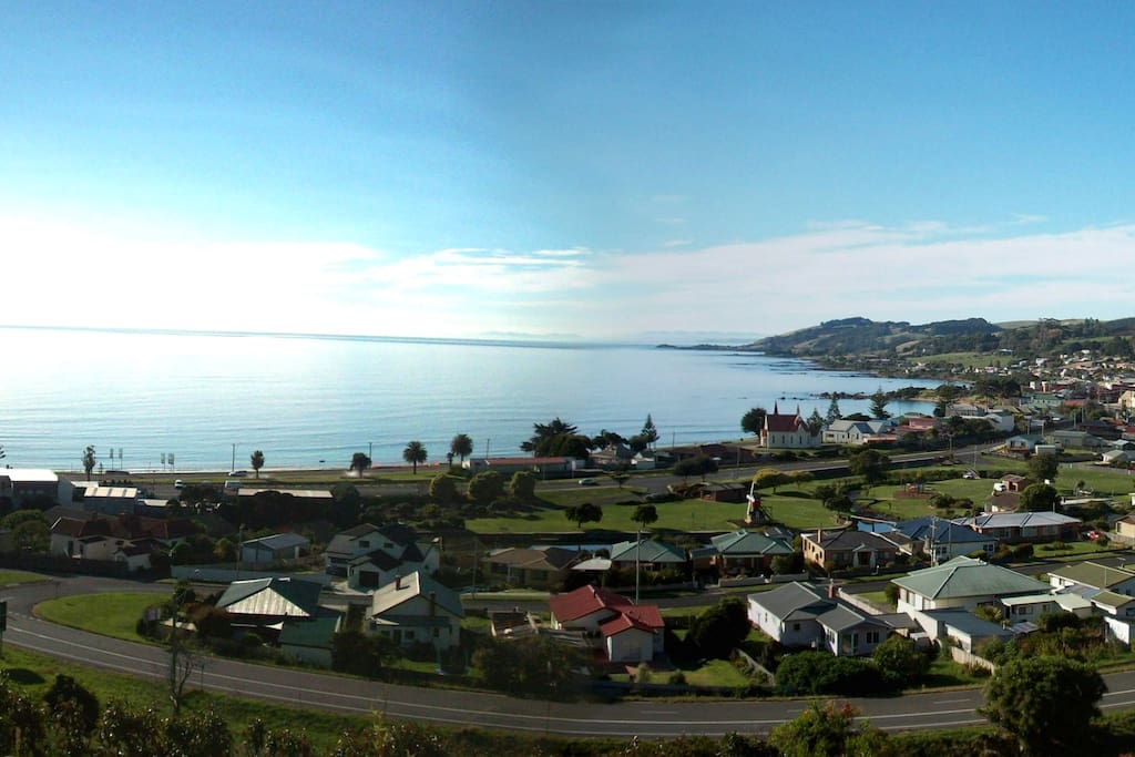 Fantastic view of Penguin township and sea to the east.