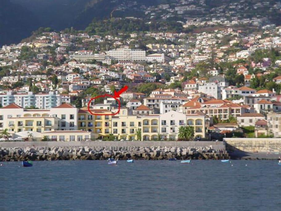 Location (flat is on 1st floor) / Localização (o apartamento é no 1º andar)