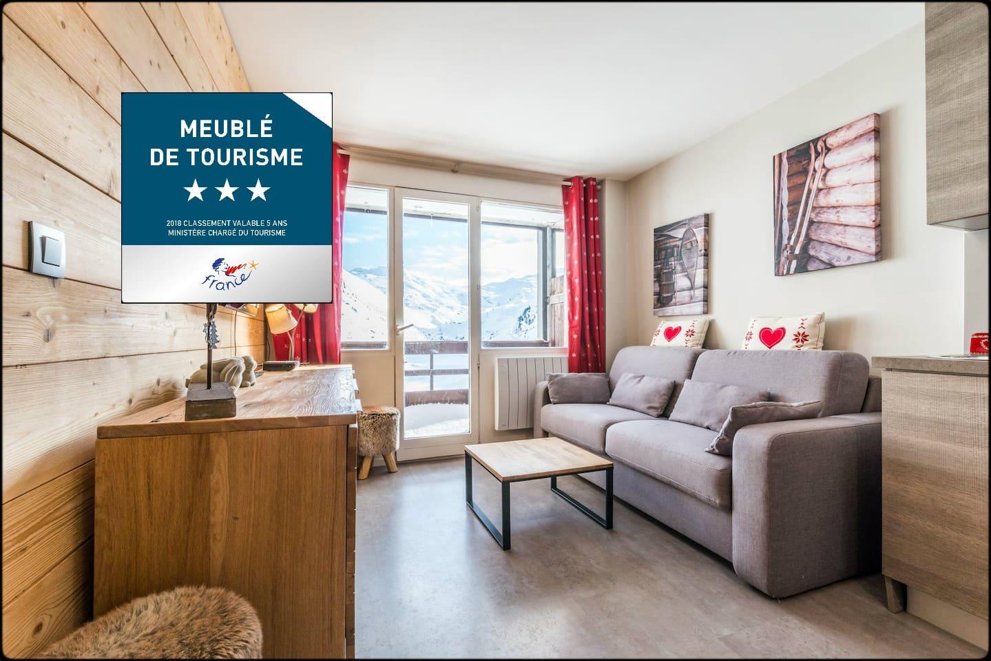Appartement classé meublé de tourisme 3 étoiles :-)