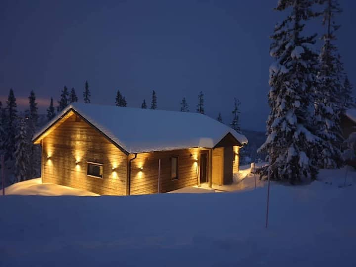 Mysig, nybyggd stuga i Storhogna (Ski in Ski out)