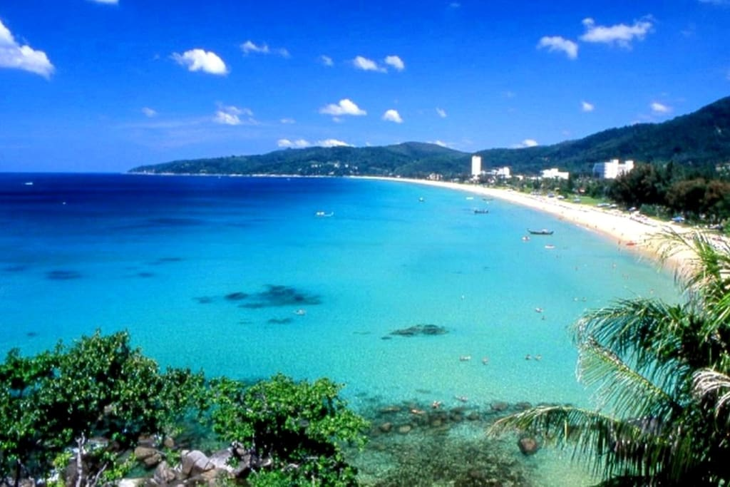 Picture of Patong Bay taken less than 10 minutes drive from the apartment.