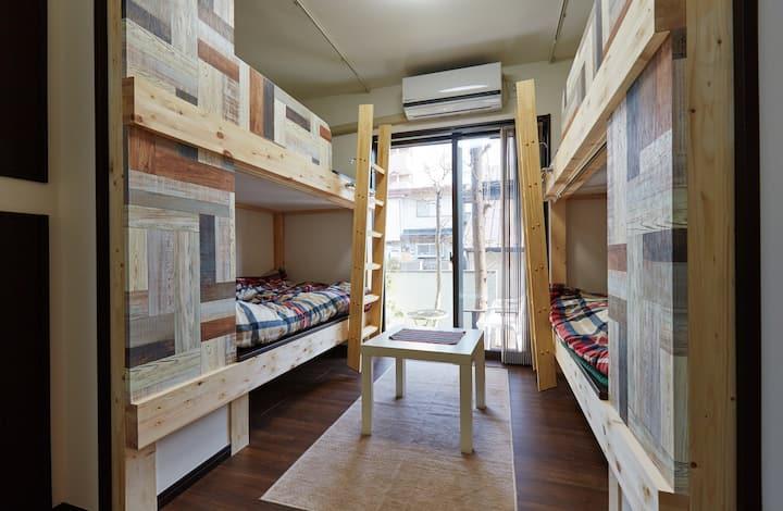4 bunks beds room