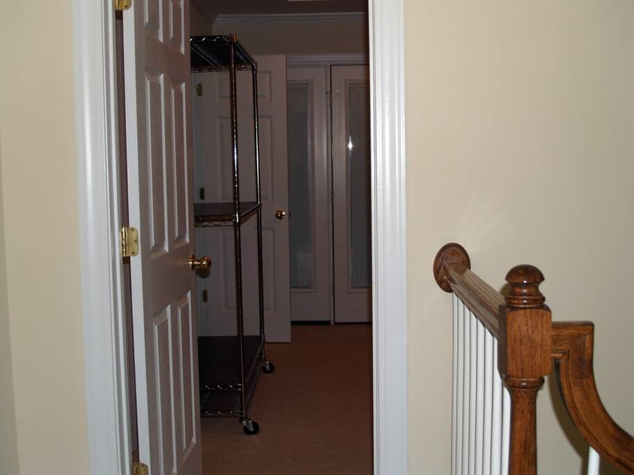 Entrance to Master Bedroom Suite from the upstairs hallway.