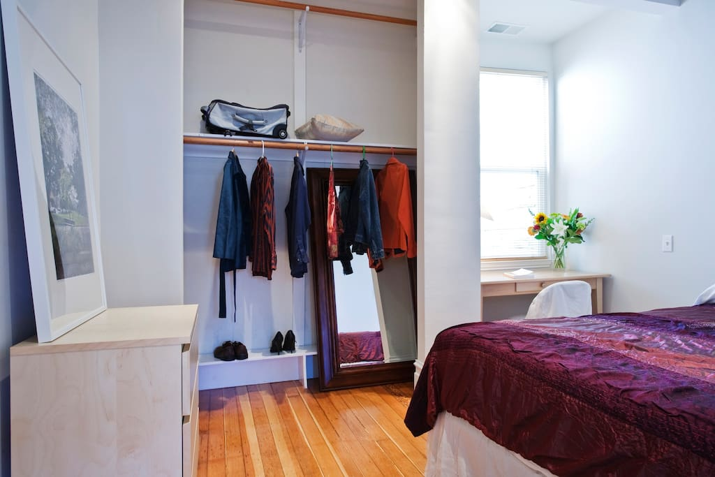 Lots of closet space and natural light.
