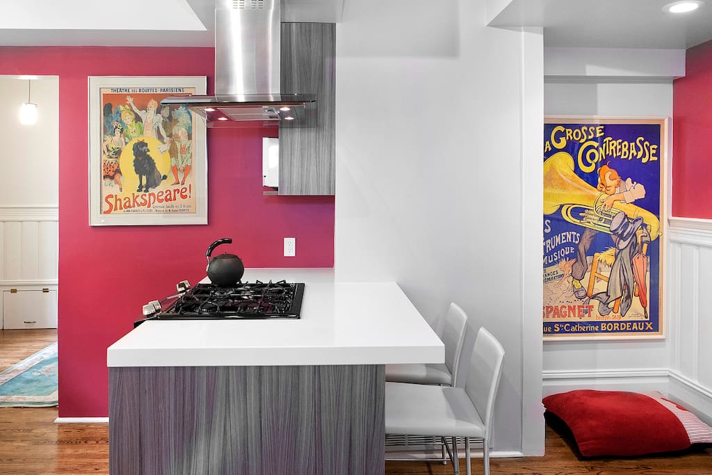 Kitchen with ample space for eating.