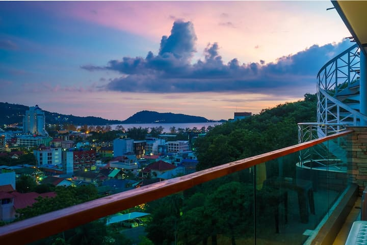 Patong great condo, open view, pool and gym