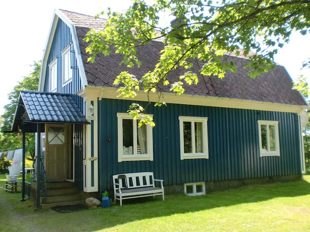 Blue Swedenhouse, for 6 persons in quiet nature