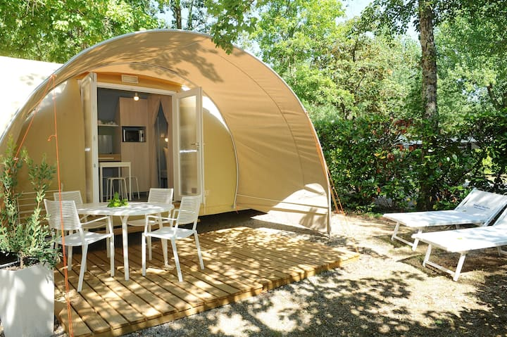 The smart and comfy tent in the tuscany hills