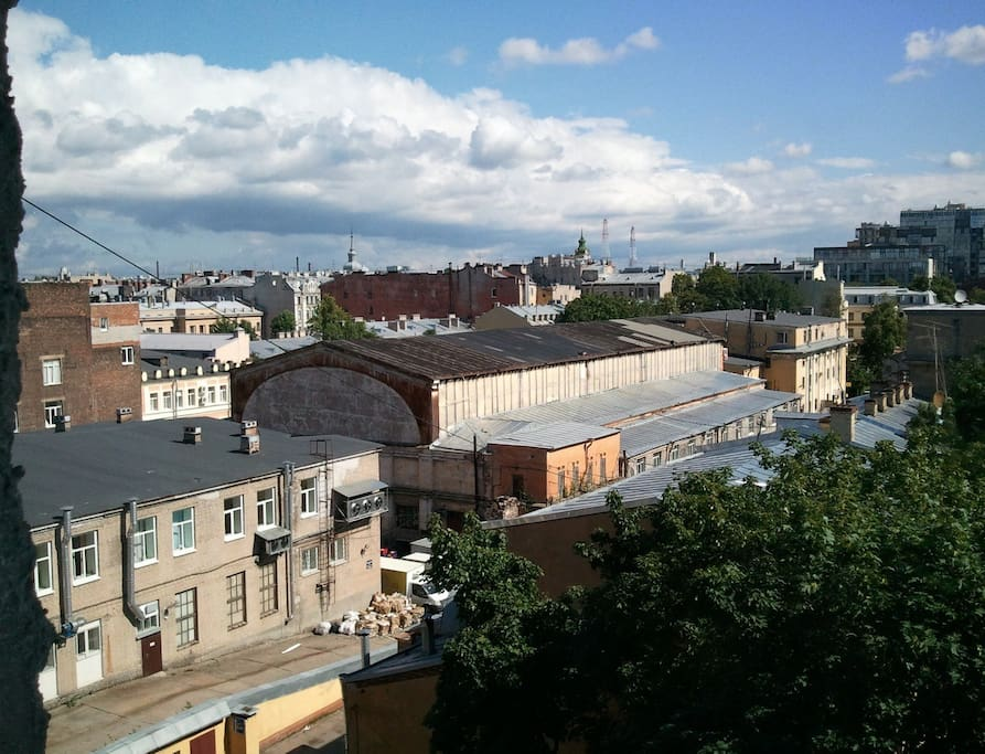 Panorama of St.-Petersburg from windows