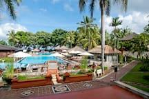 Sharing pool at the resort