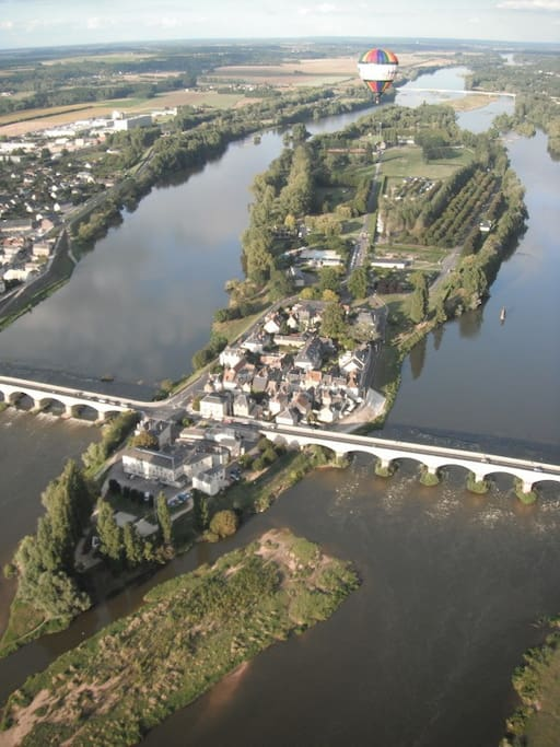 This is the island l'ile d'Or in Amboise where our apartment is situated