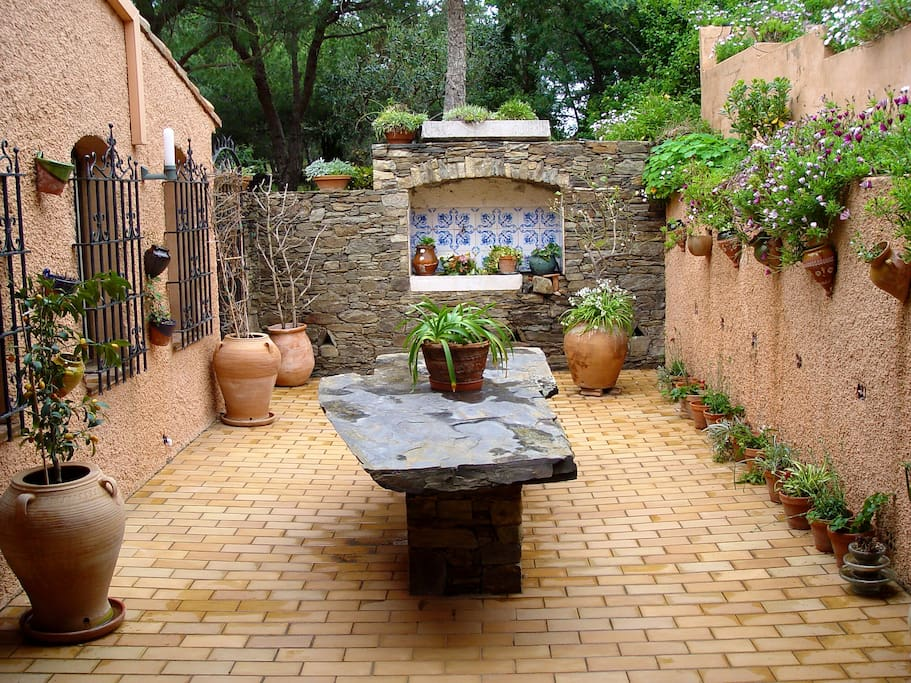 The Spanish style patio