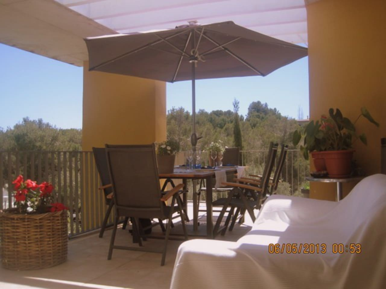 Open Terrace for dining and relaxing,