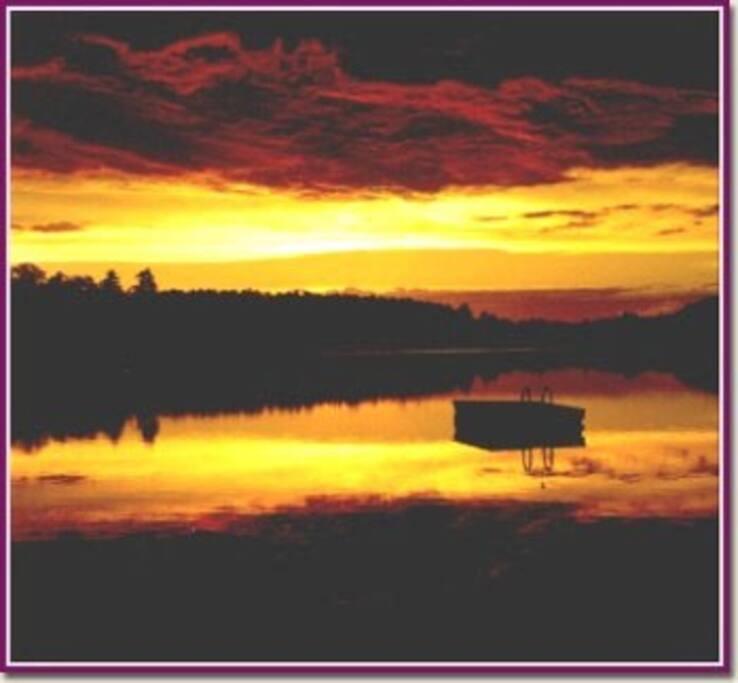 Sunrise on Little Wolf Lake
