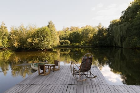 A lovely lake house- 25 mins from Warsaw downtown - Warszawa - Kulübe