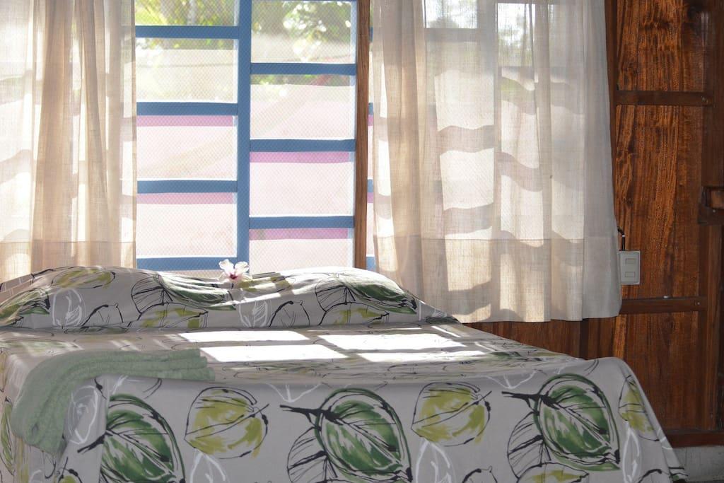Comfortable ocean view beds