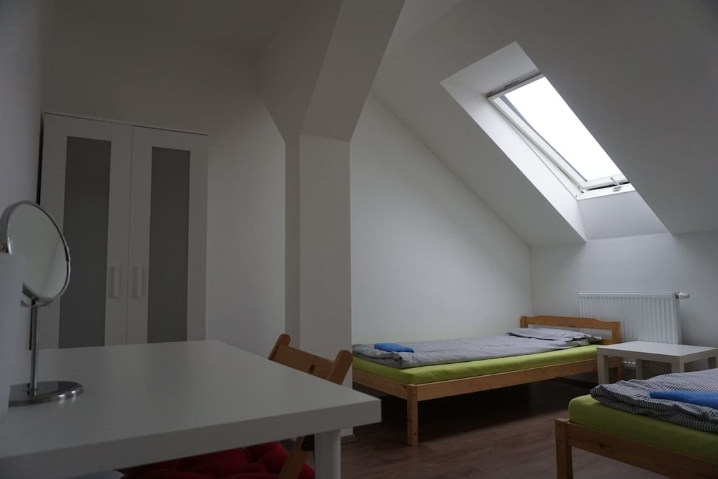 Clean and spacious room