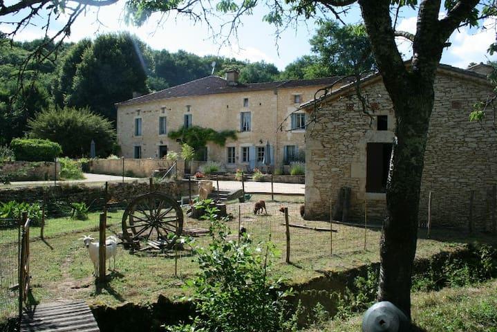 LA MINOTERIE, 185m² aile droite Moulin de St Avit - Gavaudun - บ้าน