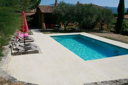 Villa des Romarins - 4 ch/8pers - piscine chauffée - Mormoiron