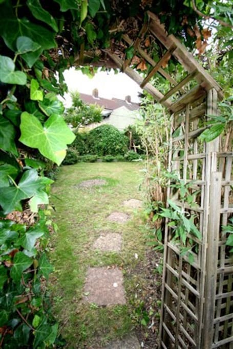 Archway to the garden.