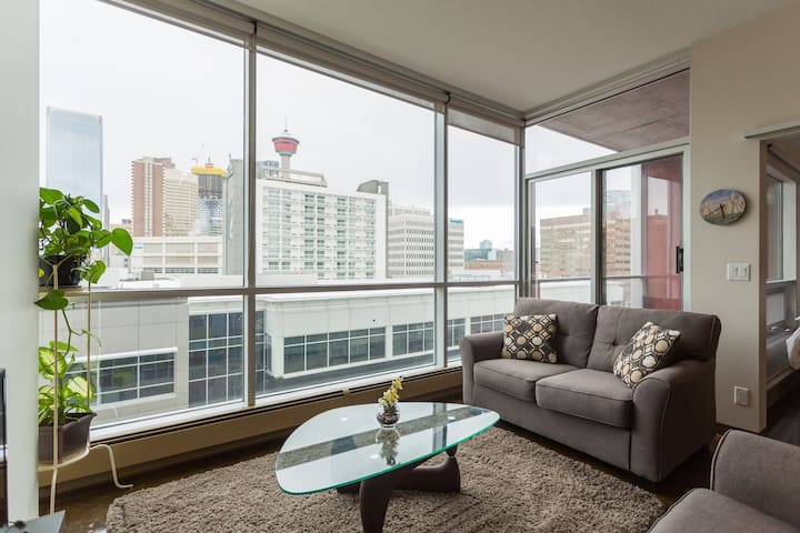 Condo with downtown views - walk to city core