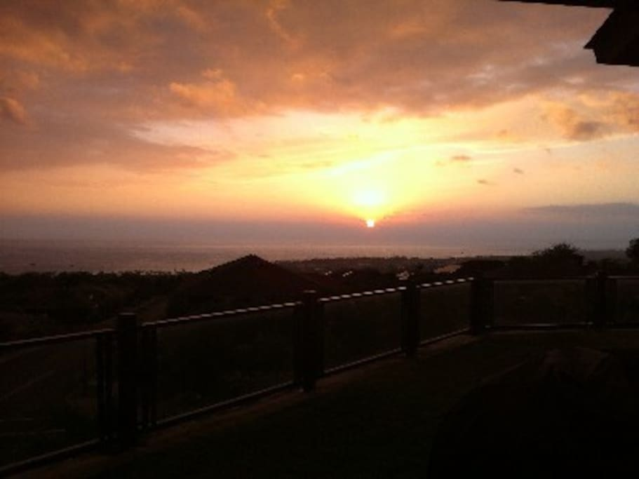 Sunset from the lanai.