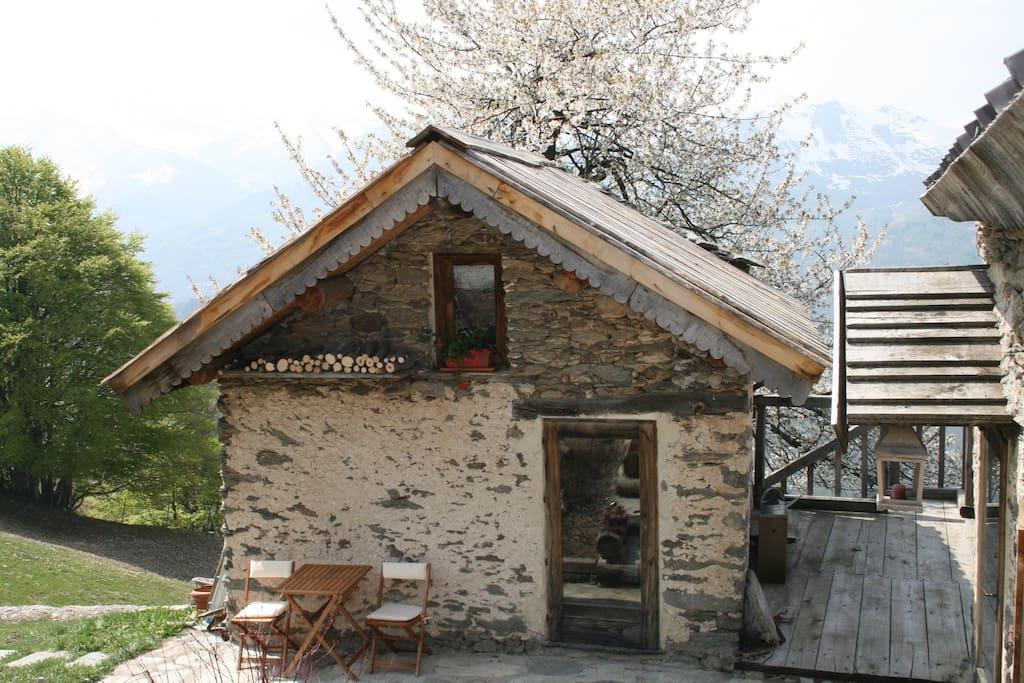 La Casetta et sa terrasse