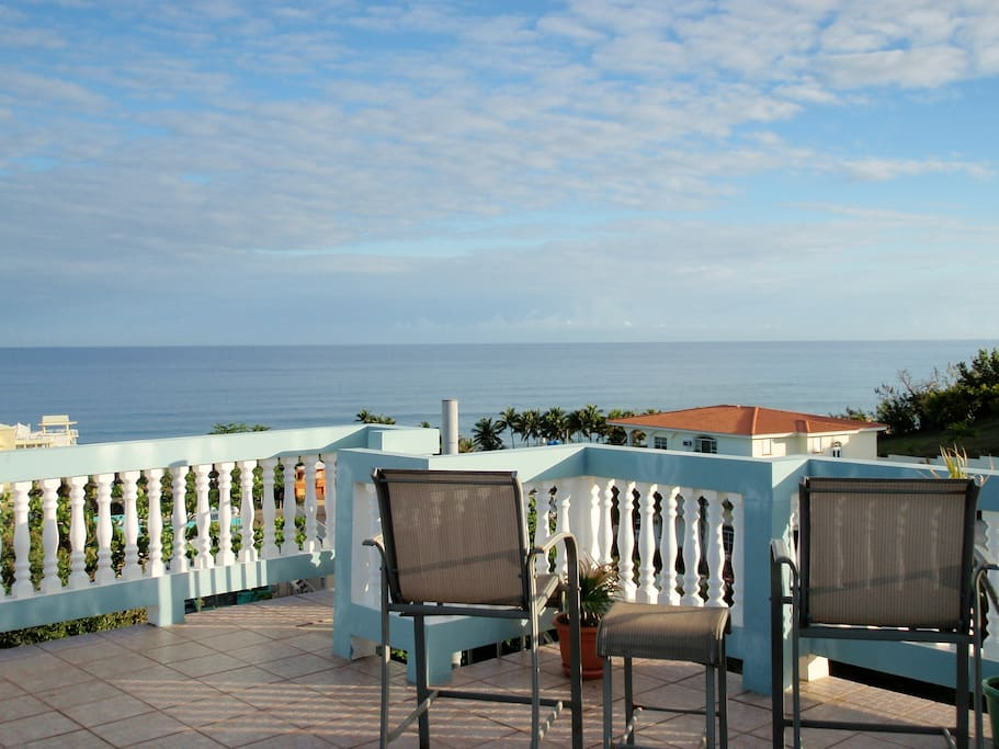 Picture yourself with your morning coffee or tea and view of the sea
