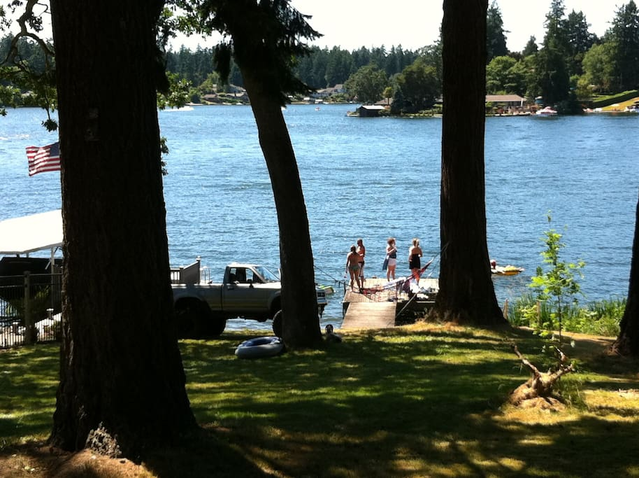 View of Lake Steilacoom + Shared Dock