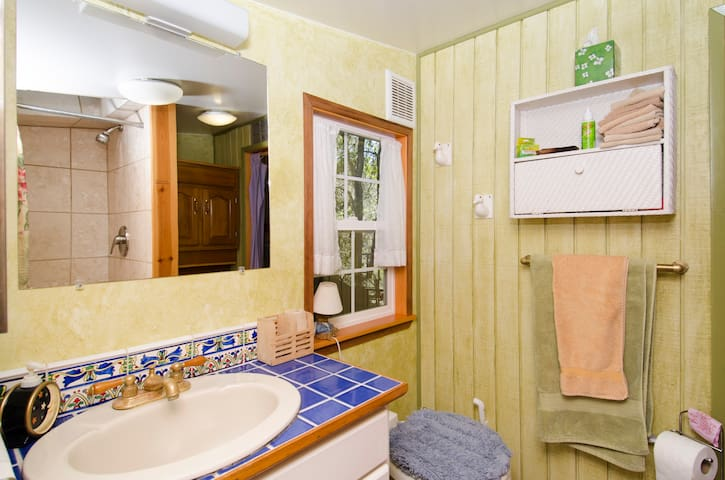 The bathroom - with a Nature's Head Composting Toilet.