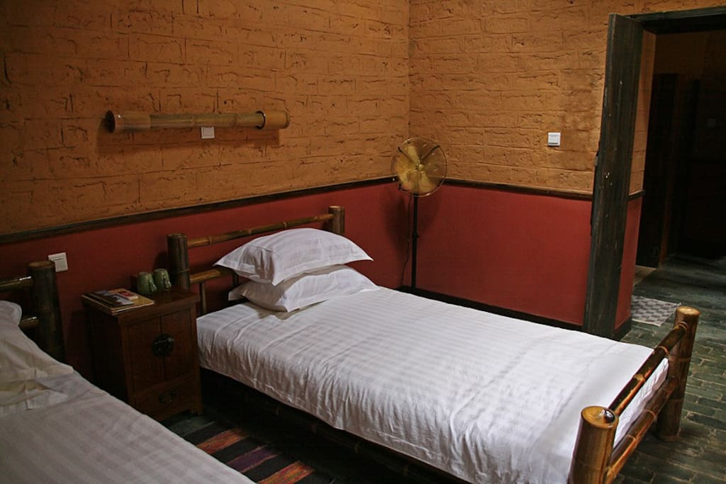 Twin Room, Moon Hill Village Farmhouse, Yangshuo Village Inn, Yangshuo China
